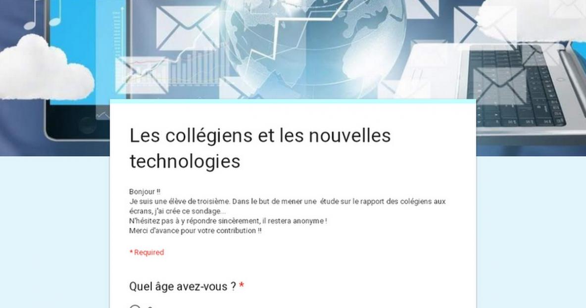 Les collégiens et les nouvelles technologies