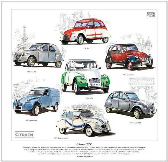 CITROEN 2CV Fine Art Print (Spot Dolly Camionette AZA Charleston Beachcomber)   Citroen car, Cars motorcycles, Vintage cars
