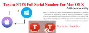 Tuxera NTFS 2017 Serial Number Crack For macOS Sierra Full Download