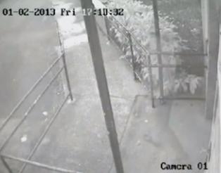 Londres: vidéo d'un fantôme prise par une caméra de surveillance