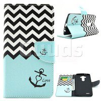 Wish | Wave Anchor Leather Wallet Case for LG G4 H810 VS999 F500
