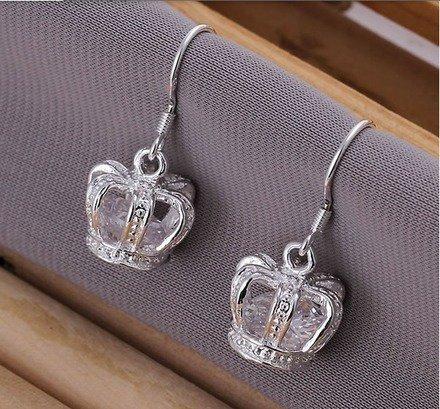 Boucle d'oreille couronne royale Argent 925 : Boucles d'oreille par jl-bijoux-creation