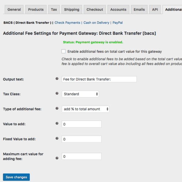 Payment Gateway based Fees 3.1.0 Extension For WooCommerce - Get Lot