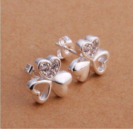Boucle d'oreille trèfle Argent 925 : Boucles d'oreille par jl-bijoux-creation