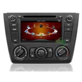 Auto DVD Player GPS Navigationssystem für BMW E88 1 Series(2004 2005 2006 2007 2008 2009 2010 2011 2012) Convertibl (manuelle Klimaanlage+beizbarer Sitz)