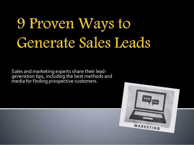Proven Methods to Generate Sales Leads
