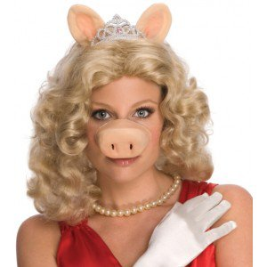Perruque miss piggy the muppets le muppet show femme