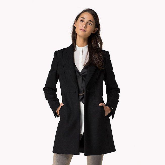 felicia manteau laine tommy hilfiger tendance mode femme. Black Bedroom Furniture Sets. Home Design Ideas