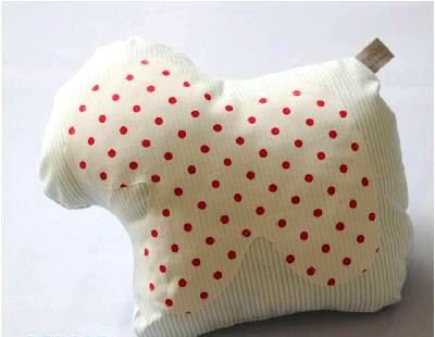 Decorative small pony pillow - navy style