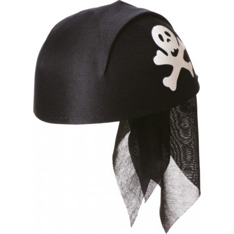 Chapeau bandana pirate noir adulte et enfant