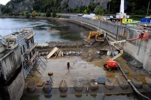 Chômage de la Haute Meuse: 50 hommes dans les entrailles du fleuve