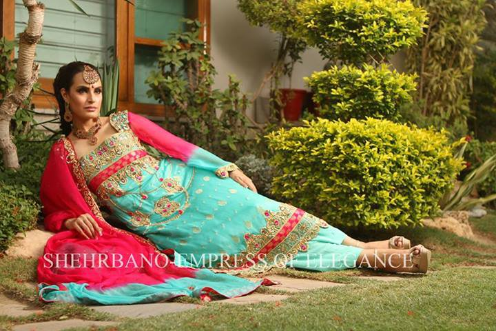 Pakistani Fashion Style: Shehrbano Formal Wear 2013 With Nadia Hussain