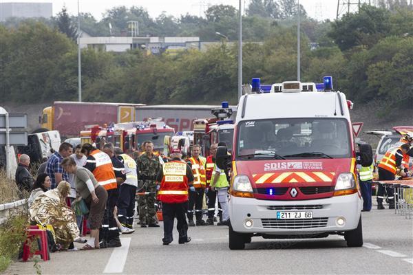 A la Une | Accident de car à Mulhouse: : une erreur de conduite du chauffeur - L'Est Républicain