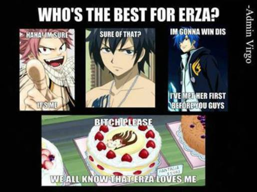 Who the best for Erza-San ?