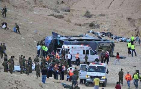 Vingt-quatre morts dans l'accident d'un car de tourisme en Israël