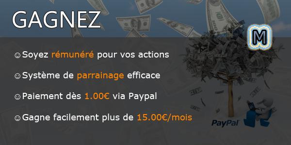 MegaClic.fr - Gagnez de l'argent avec la publicité ! Clics & Inscriptions rémunérés !