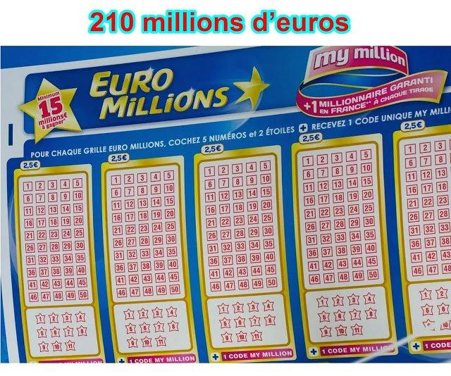 Euromillion Tentez de remportez un jackpot de 210 millions d'euros | France Express