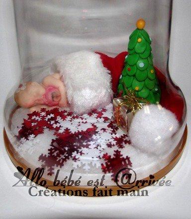 """MON 1ER NOËL Cloche en plexiglas de 14.5 cm """"Mon 1er Noël de bébé 2014"""" à poser. : Accessoires de maison par allo-bebe-est-arrivee"""