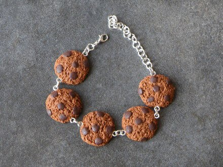 Bracelet cookie en fimo : Bracelet par jl-bijoux-creation