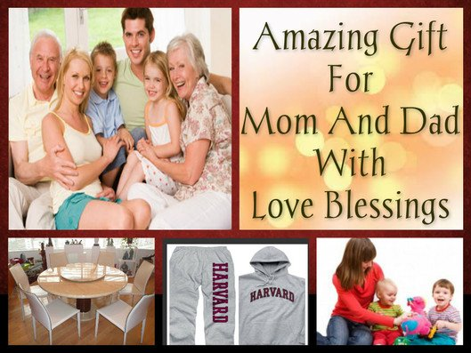 Amazing Gift For Mom And Dad With Love Blessings