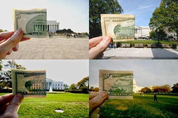 Monument US représenté sur les dollars.....