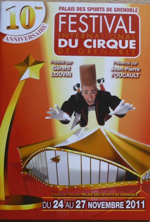 Programme 10ème Festival International du Cirque de Grenoble 2011