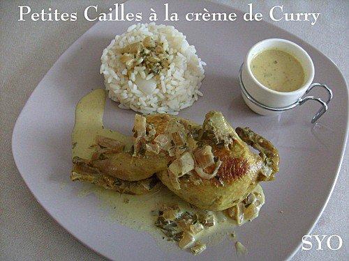 Cailles à la Crème de Curry du Petit Bistro de Mamigoz