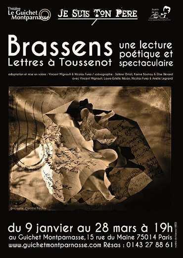 """""""JE SUIS TON PERE"""" Lettres de Brassens à Toussenot - SORTIES à PARIS par Robert BONNARDOT"""