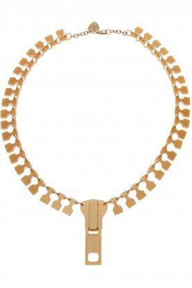 Zip Necklace - matt gold