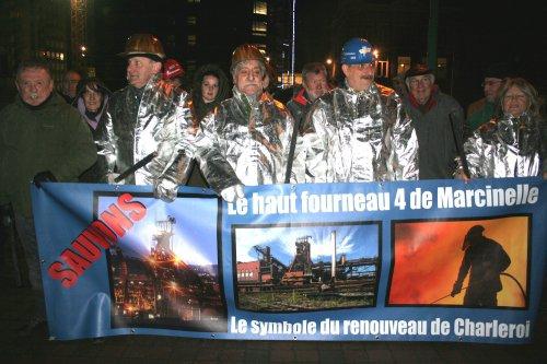 CHARLEROI- MARCINELLE- Mobilisation pour le H-F 4 - Charleroi Sudinfo