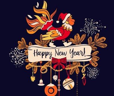 Happy New Year Rangoli 66