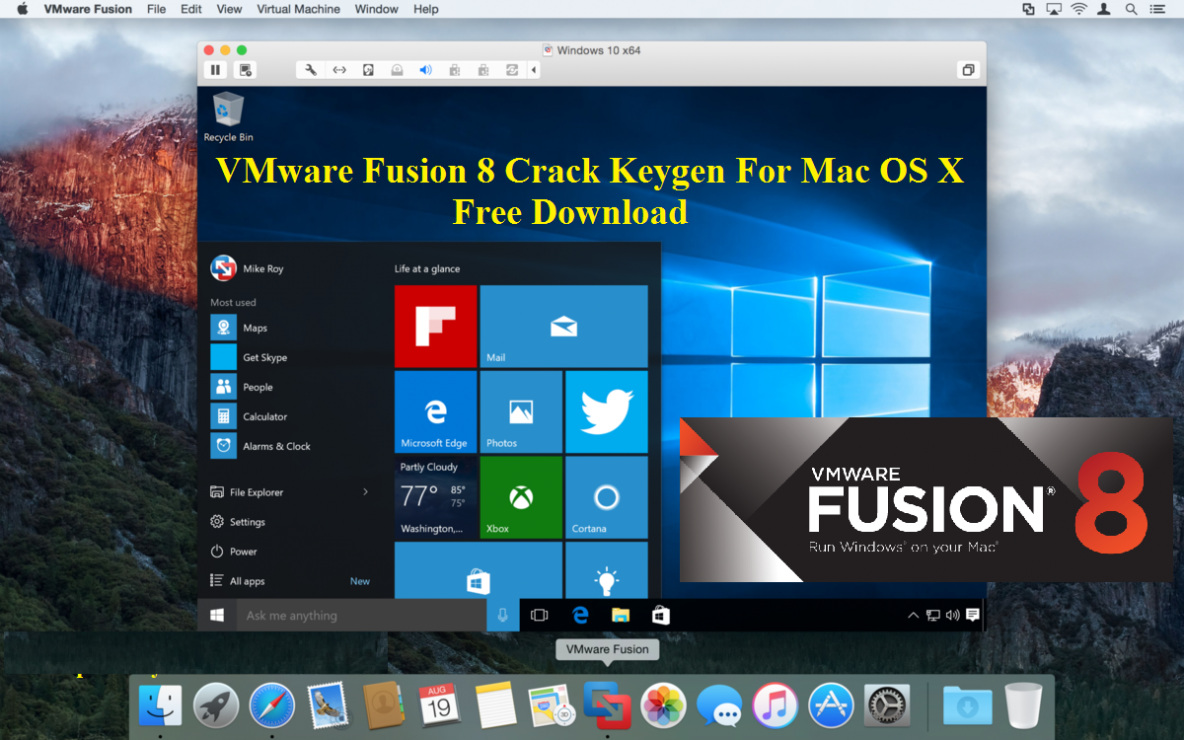 VMware Fusion Pro 8.5.4 Cracked Serial For Mac OS Sierra Full Download | Crack4Mac
