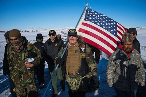 Veterans Stand in Solidarity With Dakota Access Pipeline Protest