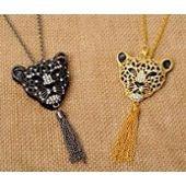 Collier femme, couleuror/noir, léopard, ajustable sur PriceMinister