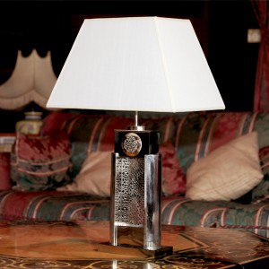 Lampe originale en maillechort