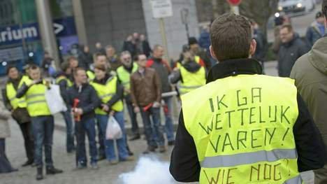 Le mouvement des bateliers belges gagne l'étranger