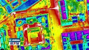 Isolation des toitures: l'étude de thermographie aérienne à Charleroi a livré ses résultats - Vidéo - RTL Vidéos