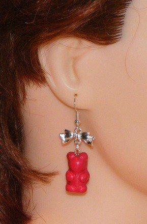 Boucle d'oreille nounours en fimo Argent 925 : Boucles d'oreille par jl-bijoux-creation