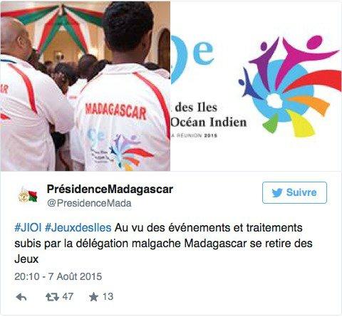 Après les Comores, Madagascar se retire des Jeux des Iles