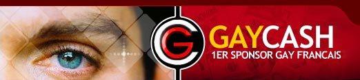 GayCash (!) (GAY CASH) : sponsor gay, sponsor adulte gay, affiliation gay et marque blanche 100% gay