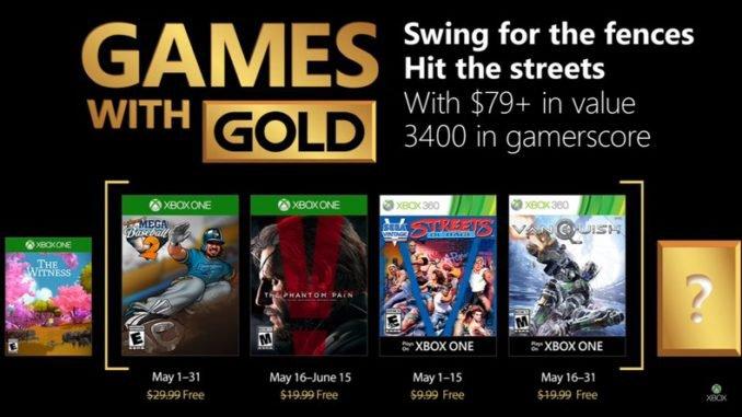 Xbox Live Gold : Sélection des jeux gratuits Mai 2018