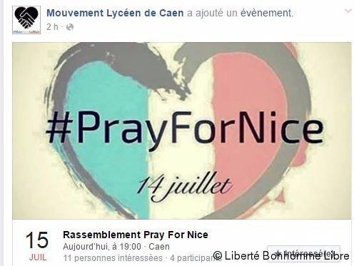 Attentat à Nice ] Un rassemblement ce soir devant le théâtre de Caen