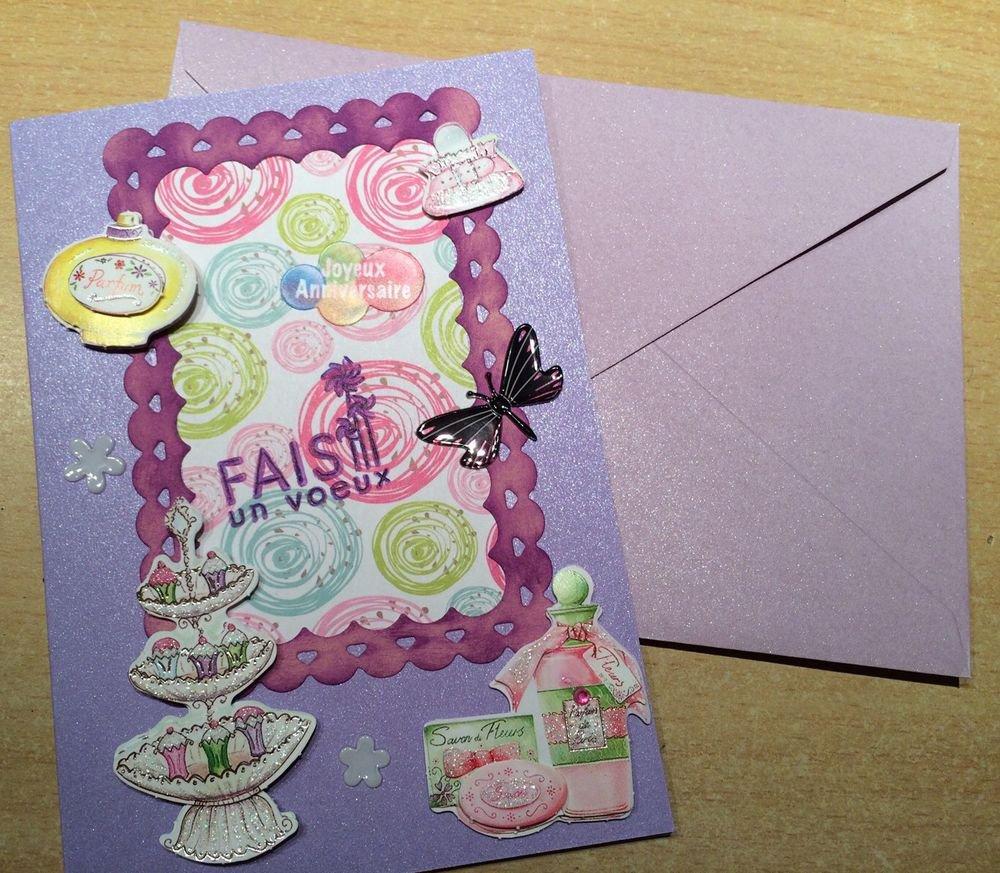 Carte d'anniversaire gâteaux et parfum - 2¤