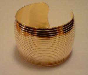 bracelet,bijou fantaisie,doré,sans nickel,large