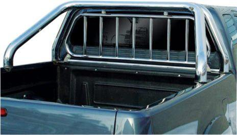 ROLL BAR INOX MTC Ø 76 + GRILLE DE PROTECTION FORD/MAZDA