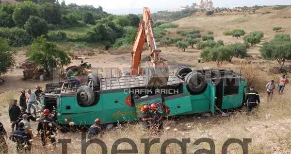 Meknès : 29 personnes blessés dans une accident d' autocar - IBERGAG