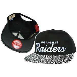 Casquette Los Angeles Raiders Customisee avec un Tissu de Velour Zébré et dessous du Cuir Noir- Snapback Officielle NFL - EDITION LIMITEE: Amazon.fr: Sports et Loisirs