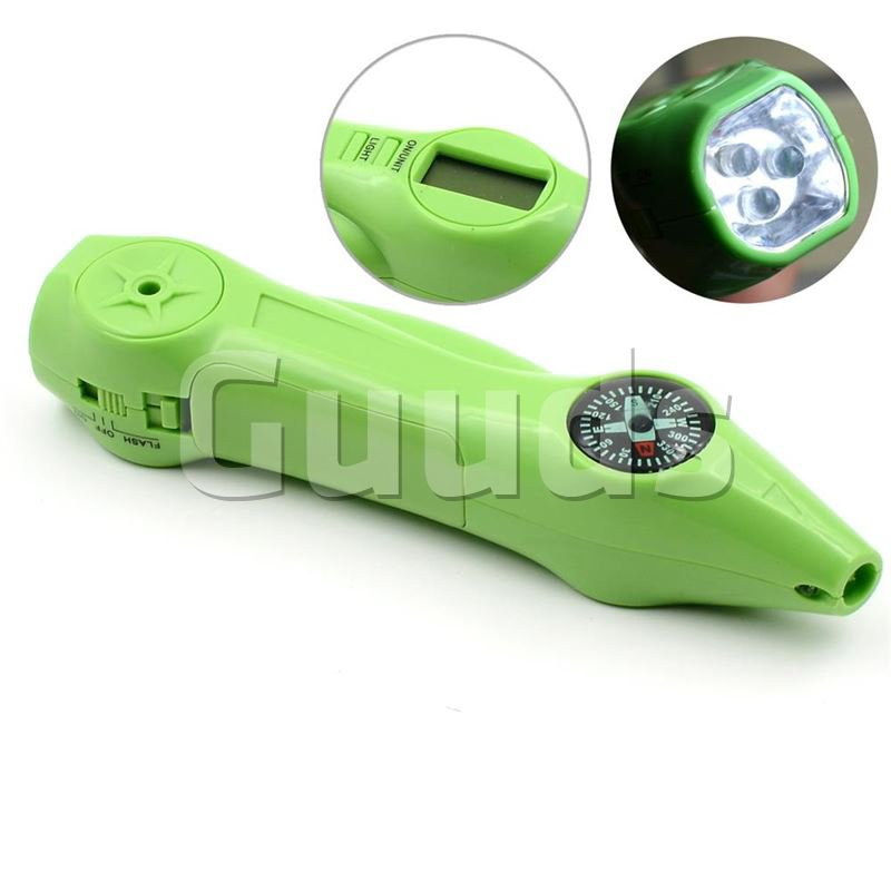 4 in 1 Digital Electronic Tire Gauge with LED Display, Compass, LED Light, LED Warning Light - Outdoor Gadgets - Guuds