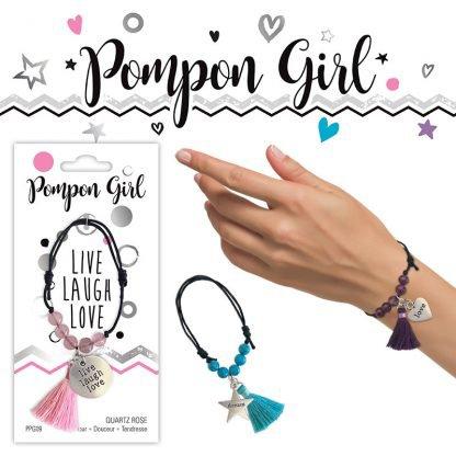 Bracelet pompon en pierre naturelle - Magie des Bijoux