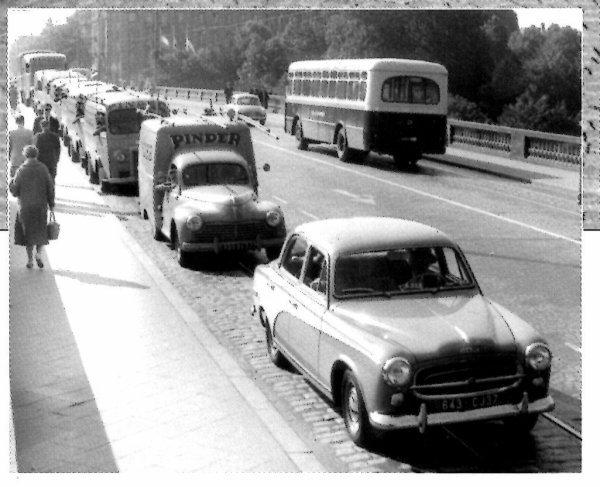 La petite histoire du convoi d'affichage Pinder en 1955
